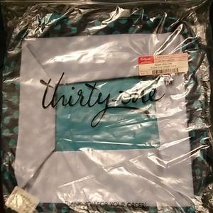 Thirty One square utility tote with cover